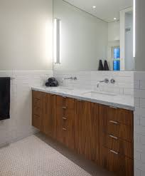 subway tile ideas bathroom contemporary with beige wall black