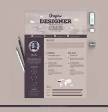 templates for resumes free 10 free resume templates for graphic designers free creative vintage resume design template for designers