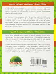 spanish thesaurus for children libro de sinonimos y antonimos