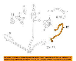 suzuki oem 01 05 grand vitara power steering pressure hose