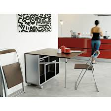 dining room small space home interior with wall art and folding