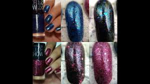 new maybelline party collection nail polish live swatches