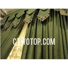 curtain valances for living room flocking solid elegant green living room curtains no include valance