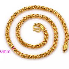 mens byzantine necklace gold images Byzantine chain 18k yellow gold filled mens chain necklact jpg