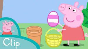 peppa pig episodes egg hunt clip cartoons children