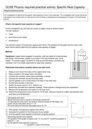 Specific Heat Table Aqa P3 5 Specific Heat Capacity By Matthewcawdron Teaching