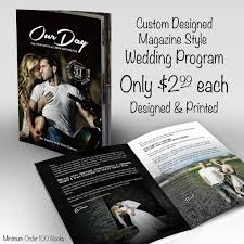 magazine wedding programs wedding program custom magazine style program designed and