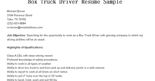 Delivery Driver Resume Examples by Driver Resumes Box Truck Driver Resume Sample