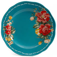 Vintage Halloween Plates by The Pioneer Woman Vintage Floral 12 Piece Dinnerware Set Walmart Com