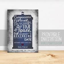 tardis wedding cake topper doctor who tardis custom printable save the date card companions