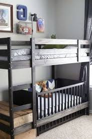Loft Bed With Crib Underneath Monochrome Bedroom White Bunk Beds Bedroom Boys And White