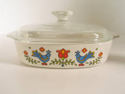 Corning Dishes Retro Corning Ware Friendship Country Festival Pattern With