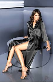 long satin black negligee alexia w00998n idresstocode online