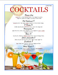 drink menu template free cocktail menu template microsoft word templates