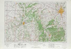 Topographical Map Of United States by Indianapolis Topographic Map Sheet United States 1953 Full Size