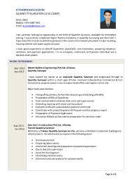 mep quantity surveyor resume sample virtren com