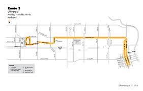 Dart Map Dart Local Route 3 U2013 University U2013 Dart Local Bus Routes