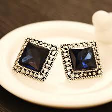 big stud earrings square gold big stud earrings for women vintage brand fashion