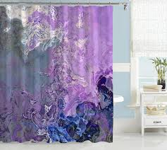 Shower Curtain Contemporary Abstract Shower Curtain Contemporary Bathroom Decor Lavender