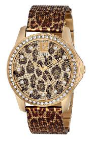 bracelet watches guess images Guess women 39 s u0333l1 animal print mesh gold tone jpg