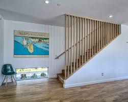 Modern Banister Ideas Midcentury Modern Staircase Ideas Designs U0026 Remodel Photos Houzz