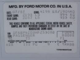 help needed 87 89 two tone gt color code ford mustang forums