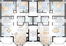 family floor plans multi family plan 64952 at familyhomeplans com