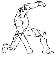 how to draw iron man draw step by step