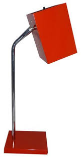 Red Desk Lamp by Clement Meadmore Enameled Metal U0027calyx Table Lamp C1953