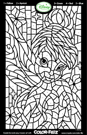 tinkerbell color number coloring pages hey ya
