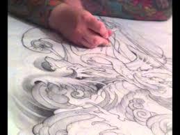 white dragon tattoo u0027fukurokuju taming baku u0027 part 1 youtube