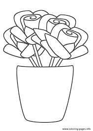 coloring pages with roses coloring pages rose a rose vase coloring pages coloring pages for