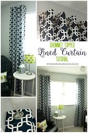 White Lined Curtain Panels That U0027s What Che Said Diy Lined Grommet Top Curtain Panels