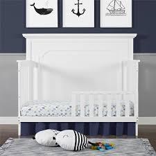 Convertible Cribs With Toddler Rail by Dorel Living Baby Relax Toddler Guard Rail Pure White