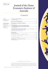 journal of the home economics institute of australia pdf download journal of the home economics institute of australia pdf download available