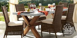 Sofa For Dining Table by Outdoor U0026 Patio Furniture Pottery Barn