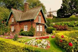 Home Design Stock Images by Classic House With Flower Garden Stock Photo Image Garden Ideas