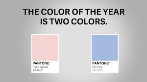 serenity and rose quartz are the colors of the year youtube