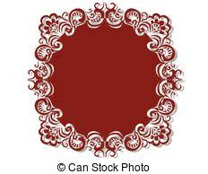clip vector of royal bed with damask ornaments royal bed