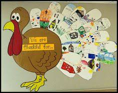 thanksgiving bulletin board idea send home large feathers cut