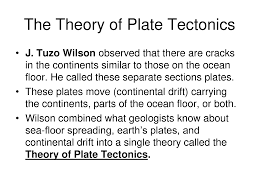 the theory of plate tectonics powerpoint powerpoint earth