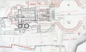 Whitemarsh Hall Floor Plan by Lanciani Forma Urbis Ancient Structures In Black Basilica Of