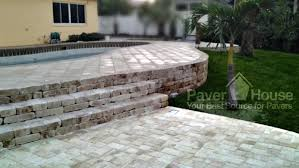 Retaining Wall Patio Retaining Wall Installation Paver House With Brick Pavers In St Pete