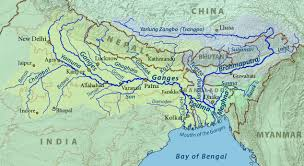 Highly Detailed River Map Of by The River Ganges Hindu Holy Mother Ganga