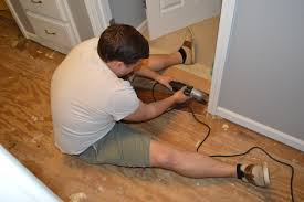 Laminate Floor Door Edging Strips Prepping To Lay Engineered Wood Flooring Loving Here