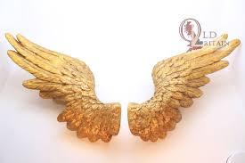 angel wings wall hanging sculpture model plaque