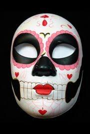 day of the dead masks plastic masks day of the dead with hearts