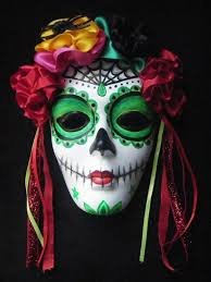 day of the dead masks el dia de los muertos day of the dead mask and wall hanging dia