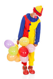 clown balloon l sad joker with balloons stock photo image of alone expression