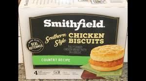 smithfield southern style chicken biscuits review youtube
